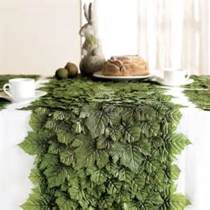 grape leaf table runner traditional tablecloths by