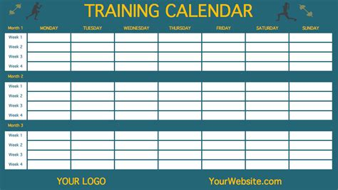 Calendar 90 Days 90 Days Workout Calendar Printable Calendar Template 2016