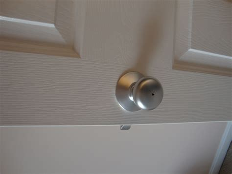 Used Door Knobs by Spray Painted All The Door Knobs And Hinges To Get Rid Of