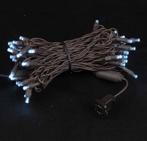 brown wire wide angle pure white 50 bulb led christmas