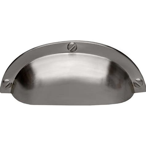 Stainless Steel Cup Drawer Pulls by Pe Sc 18 Ss Cup Pull With Screws 3 1 4 Wide In