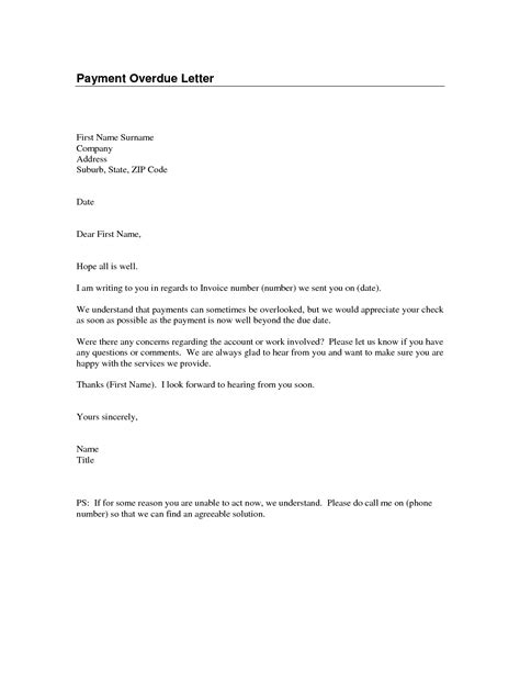 Business Overdue Payment Reminder Letter Best Photos Of Overdue Payment Reminder Letter Sle