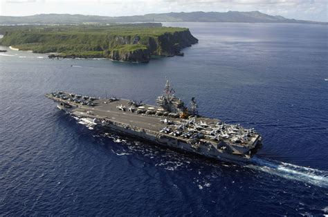 File:US Navy 070608 N 6106R 134 USS Kitty Hawk (CV 63) arrives at Naval Forces Marianas Support