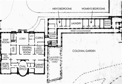 East Wing Floor Plan by West Wing White House Museum