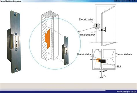 electric door strike wiring security system wiring
