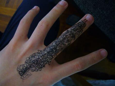 pen tattoo finger my first tattoo on my finger by jordandarkmagic on deviantart