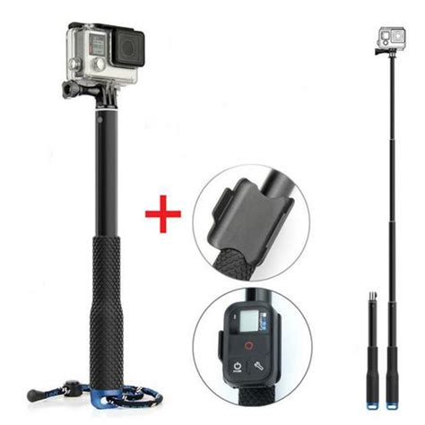 Promo Metal Lid Extendable Pole Monopod 48 Cm For Gopro Xiaomi Y for gopro extendable handheld pole telescopic tripod monopod with wifi remote holder clip