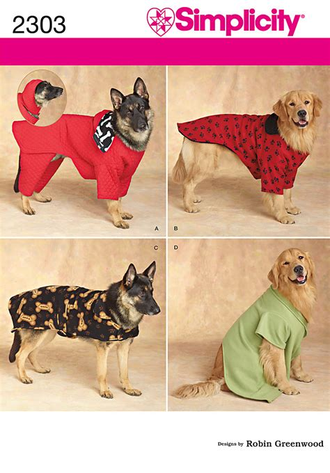pattern pet clothes 3 size dog clothing coat costume bed sewing pattern 4avl