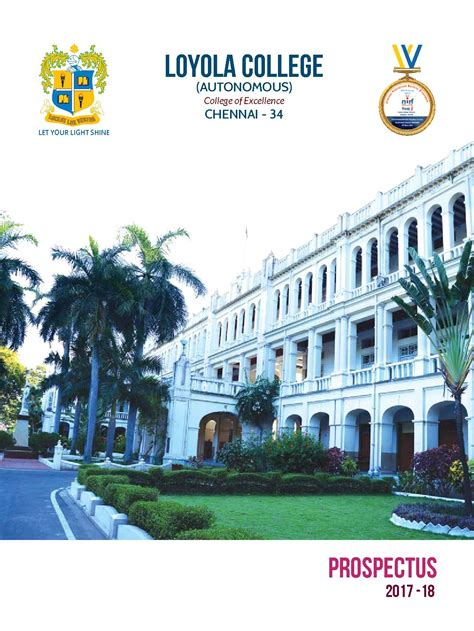 Mba Part Time In Loyola College Chennai by Loyola College Chennai Admissions Contact Website
