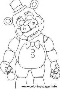 Five nights at freddys fnaf 2 coloring pages free printable