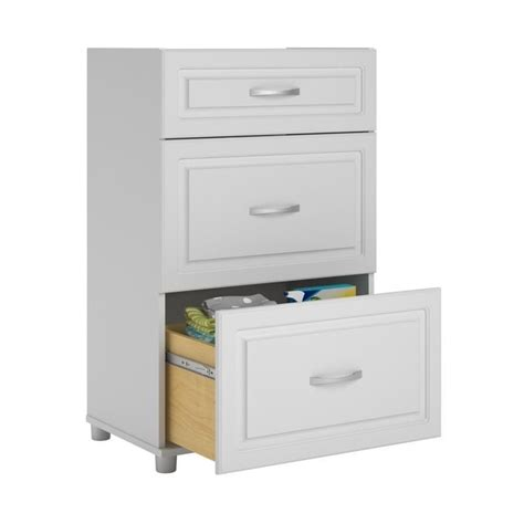 systembuild 3 drawer white aquaseal storage cabinet ebay
