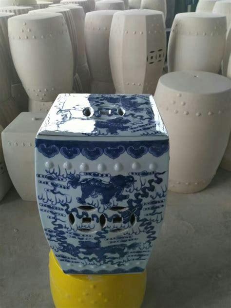large white ceramic garden stool blue and white jingdezhen large garden porcelain drum