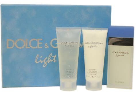 dolce and gabbana light blue gift set for dolce gabbana om fragrances