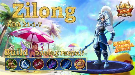 mobile legends zilong savage double penta youtube