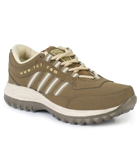 buy fitcolus brown sport shoes for for snapdeal