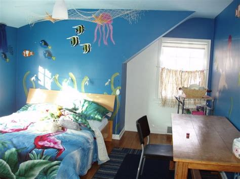 ocean bedrooms ocean room ceiling net with toys in sachin s room