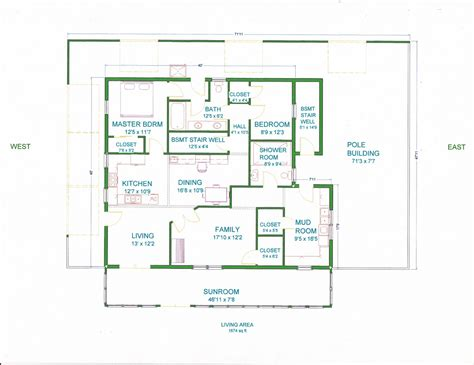 Pole Barn House Floor Plans Grama Sue S Floor Plan Play Land House A Pole Barn