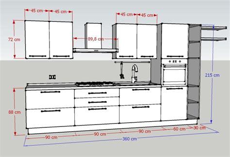 cucine componibili misure misure cucina lavelli ad angolo misure mobili da cucina
