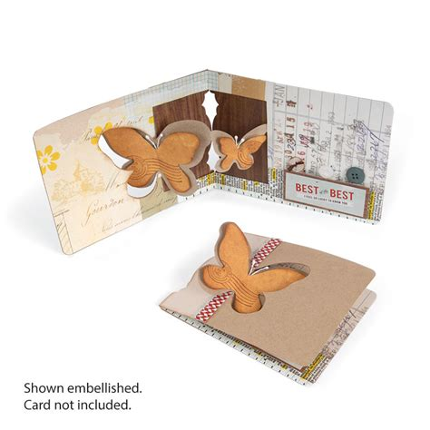 Sizzix Butterfly 3d Pop Up Window Pop N Cuts Magnetic Die Cutting Template Pop Up Die Cut Templates