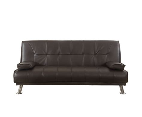 rory brown faux leather sofa bed