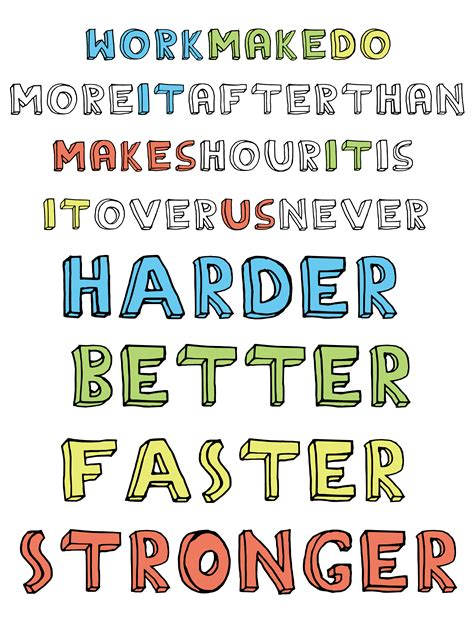 harder better faster stronger lyrics harder better faster stronger daftpunk