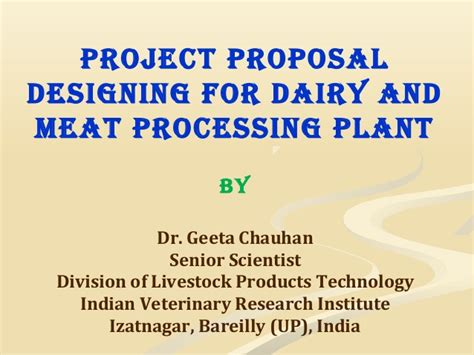 layout of dairy plant ppt project proposal designing for dairy and meat processing