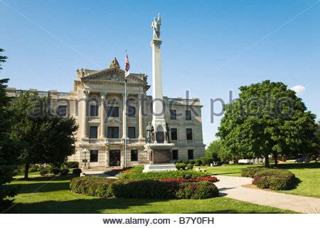 Dekalb County Il Civil Search Illinois Sycamore Dekalb County Courthouse Building Civil War Stock Photo Royalty