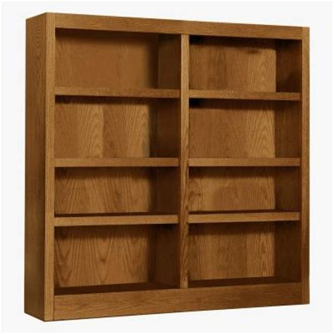 concepts in wood midas wide 8 shelf bookcase in