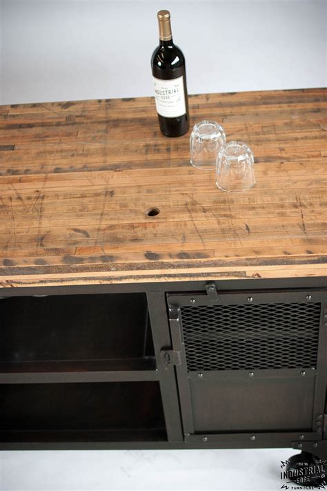 Industrial Mini Bar / Reclaimed Train Car Floor Top ? Real