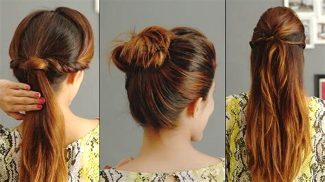 easy hairstyles glamrs 5 easy hairstyles for college