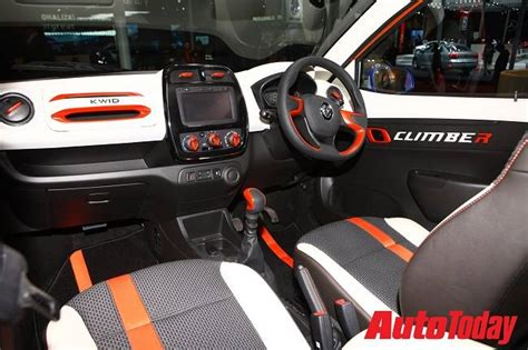 renault climber interior renault kwid climber to launch in india on march 9