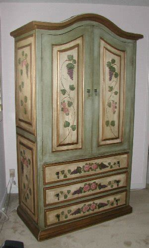 painted tv armoire painted tv entertainment center french green armoire