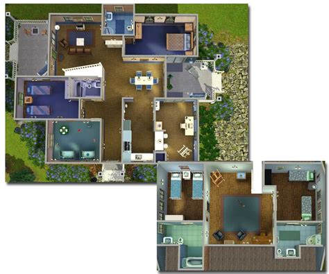 sims 3 5 bedroom house floor plan sims 3 teenage bedrooms mod the sims big family small budget 5 bedroom house