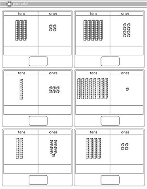 printable tens and units worksheets ks1 maths worksheets tens and units base ten blocks