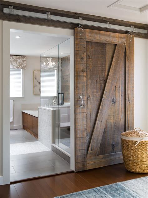 Bathroom Barn Door barn door rustic interior room divider