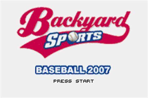 backyard baseball 2007 download backyard sports baseball 2007 download game gamefabrique