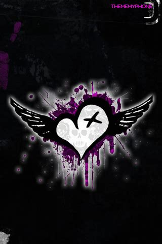 wallpapers for iphone emo bright skull danger hearts wallpaperbackgroundpicture layout