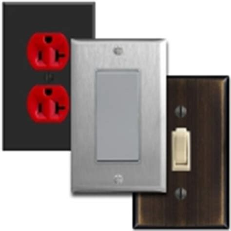 colored electrical outlets light switches toggle outlet dimmer switches for wall