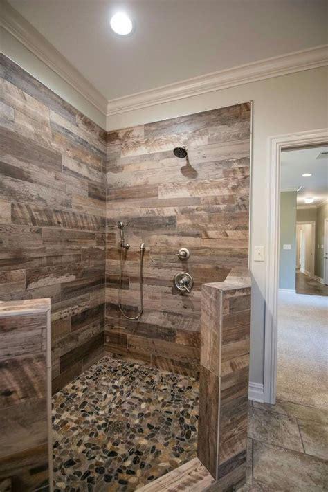 tile  master shower bathroom remodel shower rustic