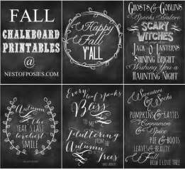 Fall Decor Blog - fall and halloween chalkboard quote printables