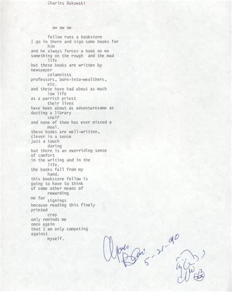 The Bathtub Gin by Charles Bukowski Manuscript