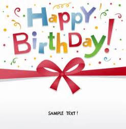 happy birthday greeting card vector free vector eps10