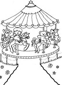 Carousel Coloring Pages  Color Page sketch template