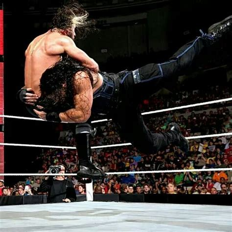 Spear Of Seth reigns spearing seth rollins 9 15 14 wrestlers