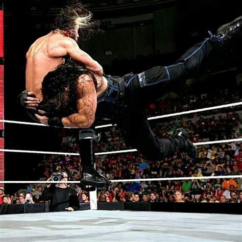 Spear Of Seth reigns spearing seth rollins 9 15 14 wrestlers