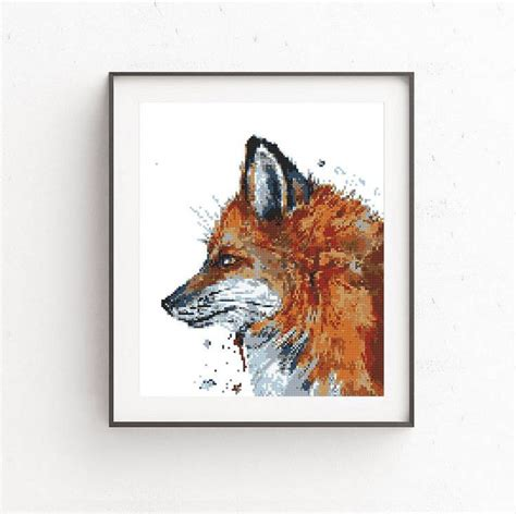 watercolor fox pattern 299 best images about fox on pinterest
