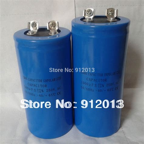 buy 1 farad capacitor unpolarized electrolytic capacitor 250vac 500micro farads 2pieces and 1000 micro farad 4 pieces