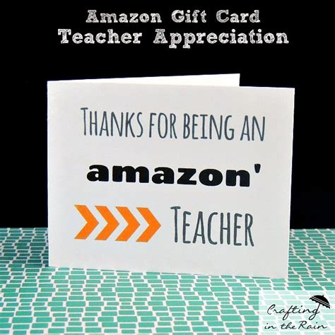 How To Give Amazon Gift Card - amazon card for teacher appreciation craft lightning crafting in the rain