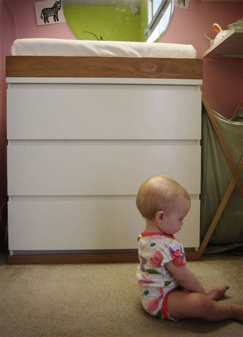 Malm Dresser Changing Table by S Nursery Part Deux The818
