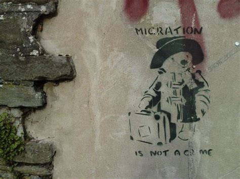 Wall Stickers Create Your Own migration is not a crime banksy streetart stencil 1